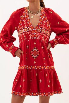Embroidered Tunic Dress | Anthropologie Isle Of Man, Anthropologie Uk, Embroidered Tunic, 50 Fashion, Models, Petite Size, Western Boots, Cold Shoulder Dress, Pullover