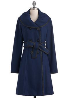 Midnight Movie Coat on ModCloth--Love the color of this coat!