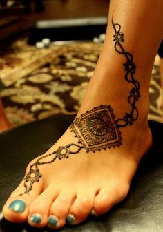 simple flower henna designs for feet - Google Search