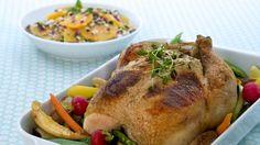 Helstekt kylling med urter og mascarpone - Gjester - Oppskrifter - MatPrat