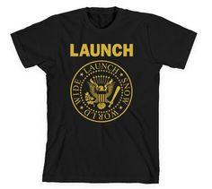 Launch Worldwide Tee Black/Gold