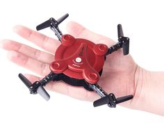 RC Quadcopter Drone with FPV Camera and Live Video - Flexible Foldable Aerofoils - App and Wifi Phone Control UAV - Altitude Hold 3D Flips & Rolls- 6-Axis Gyro Gravity Sensor RTF Helicopter, Red: Toys & Games