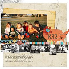 Turn a strip of contact-size photos into a decorative border for the main layout image. Print them in black-and-white to keep the focus on the larger image. Use a neutral background and minimum embellishments to balance the photos.