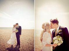 An Original Edwardian Wedding Dress for a 1960s Mod Inspired Brighton Wedding