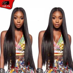 100% Brazilian Virgin Hair silky straight Full Lace Wig For Black Women Grade 8A Virgin Hair Lace front Wigs With Baby Hair