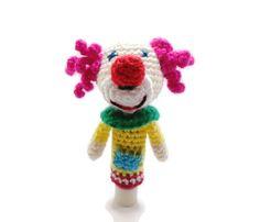 Amigurumi Pattern Crochet PDF -Finger Clown Puppet-The Clown  https://www.etsy.com/listing/153613613/amigurumi-pattern-crochet-pdf-finger?ref=shop_home_active