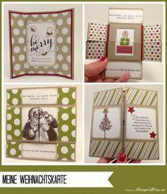 Stampin Up - Stempelherz - Workshop - Weihnachtskarten - Endloskarte - Stempel Be Merry - Stempelset Wunderbare Weihnachtsgrueße - Stempelset Wishing You - Stempelset Wunschzettel - Stempelset Warmth & Wonder - meine Karte b Collage