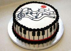 Music Birthday Cakes, Music Themed Cakes, Music Cakes, Themed Birthday Cakes, Happy Birthday, 60th Birthday, Cake Cookies, Cupcake Cakes, Bolo Musical