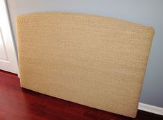 The Murphy's: DIY Seagrass Headboard - I seriously LOVE this idea. I have wanted one of these headboards forever but they're so expensive! Seagrass Headboard, Beige Room, Room Ideas Bedroom, Sabbatical, Coastal Decor, Upholstery, Blogging, Crafty, Diy