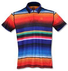 f264516f36a346 INKnBURN Men s Sarape Polo Shirt Front Men Looks