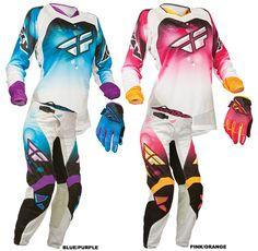 MY GEAR!! purple and blueFly Racing - 2014 Kinetic Girls Jersey, Race Pant Gear Combo