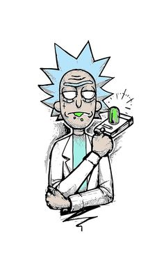 《Rick and Morty / Rick Sanchez》 Wallpaper Doodle, Iphone Wallpaper, Dark Art Drawings, Easy Drawings, Cartoon Sketches, Art Sketches, Rick And Morty Poster, Ricky And Morty, Mickey Mouse Wallpaper