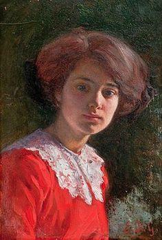 Kleopatra Elin Danielson-Gambogi (Finnish painter, Portrait of a Lady Paintings I Love, Beautiful Paintings, Oil Paintings, Female Portrait, Female Art, Female Painters, French Art, Art History, Scandinavian