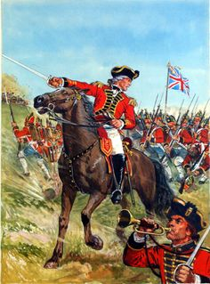 The Battles of Saratoga Springs - American Revolutionary War (Original) art by Ken Petts American Revolutionary War, American War, American History, American Soldiers, British Soldier, British Army, Military Art, Military History, Military Uniforms
