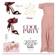 """Pink & Purple"" by christinacastro830 ❤ liked on Polyvore featuring River Island, Gianvito Rossi, Ted Baker and Eden Presley"