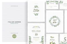 Italian Garden Wedding Collection - Invitations