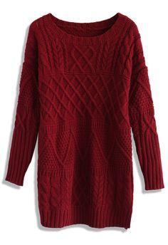 Cranberry Cable Knit