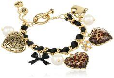 Betsey Johnson Women's Toggle Leopard Bracelet Leopard Charm Bracelet One Size