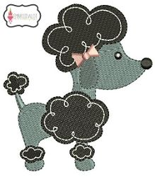 Poodle - 4x4 | What's New | Machine Embroidery Designs | SWAKembroidery.com Embroidalot