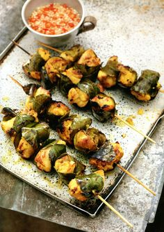 """Going on the bbq in abit :).Tumeric Marinated Chicken from Rick Steins """"Far Eastern Odyssey"""" Yummy Yummy, Yummy Recipes, Cooking Recipes, Yummy Food, Marinated Chicken, Tandoori Chicken, Rick Stein, Barbecues, Kebabs"""
