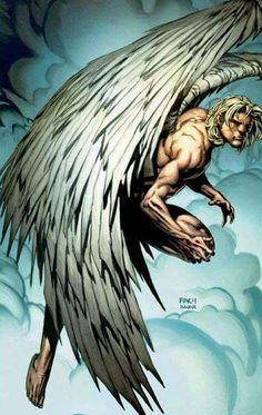 xmen angel by super heros pinterest anges d mons et les. Black Bedroom Furniture Sets. Home Design Ideas