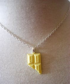 White Chocolate Bar Pendant  Kitsch use coupon code by millypopsuk, $7.50