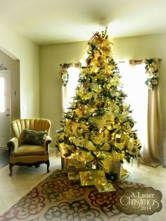 christmas tree decorations christmas themes home tours home decor ideas trees yellow google search image arbor tree - Yellow Christmas Decorations
