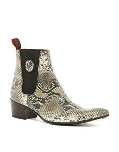 Jeffery West Snake Chelsea Boots