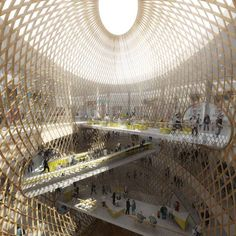 French architects Agence Searchhave won a competition to design a Paris shopping mall withproposals involving giant elliptical lattices.