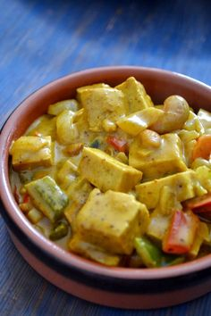 Curry de Tofu & Poivrons à l'Indienne, Beurre de Cacahuètes, Noix de Cajou… Más