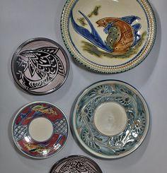 Tsuboya pottery from Okinawa - Fish and arabesque sgraffito  plates #ceramics #ceramic #pottery #okinawa  #tsuboya #japaneseceramics #japanesepottery