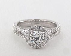 .7ct Round Halo Engagement Ring in White Gold - See it in 360 HD SuperZoom!