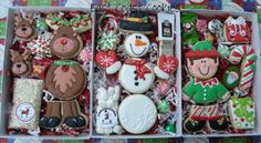 Tour of Christmas Cookies, WOW there are LOTS and LOTS of BEAUTIFUL cookies in this post! @SweetSugarBelle {Callye Alvarado}