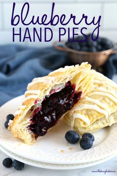 These Best Ever Blueberry Hand Pies are the perfect homemade pastry treat that's great for dessert, brunch, or a snack. They're bursting with fresh blueberries, made with frozen puff pastry and the best sweet glaze! Recipe from thebusybaker.ca! #handpies #pastry #easyrecipe #homemade #blueberry #blueberries #pie #simple #easy #blueberryhandpies #blueberrypie #snack #breakfast #brunch