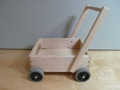 Child's Wagon With Push Handle