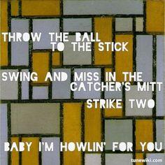 """mmmMMHHOOOOOOWWaaah -- #LyricArt for """"Howlin' For You"""" by The Black Keys"""