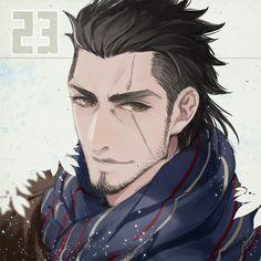 Gladiolus Final Fantasy XV 2017年描き収めアミシティア君!