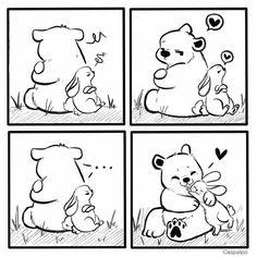 Cute Couple Comics, Couples Comics, Bunny And Bear, Cute Bears, Love Can, Cupid, Cute Couples, Royalty, Snoopy