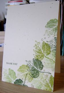 less is more - French Foliage set/ I just got this stamp set. Great inspiration