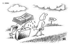 """MARE"".  Caricatura de C. CIOSU, publicata in almanahul PERPETUUM COMIC '97 editat de URZICA, revista de satira si umor din Romania"