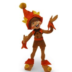 Item #860516 Assembled in America This autumn elf is the perfect addition to your fall collection. Position him playfully atop a bowl of gourds or place hi