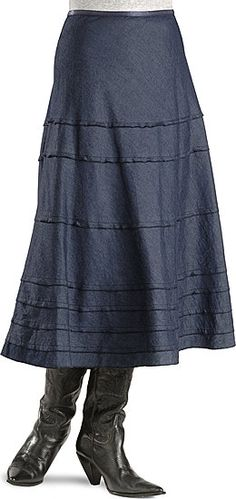 Roper Multi-tiered Denim Skirt {love all the pin tucks!}