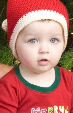 Toddler Santa Hat Crochet Pattern from Red Heart Yarns