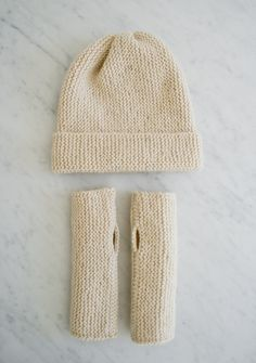 Hat and Hand Warmers for Beginners @ The Purl Bee [kit]