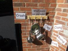 Quarry House have developed a music area in their baby garden to encourage banging and crashing