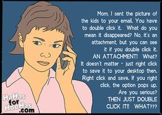 """Do your parents also call you for """"computer tech"""" issues?  ;D"""