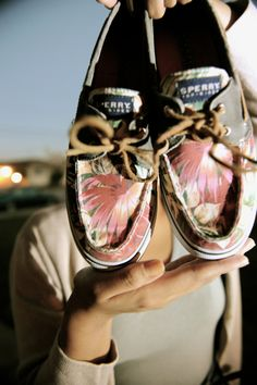 Floral Sperry Topsiders