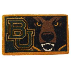 "30"" NCAA Baylor Bears Football Authentic Logo Indoor Outdoor Welcome Mat by Evergreen. $54.99. Baylor Bears Welcome MatItem #0007L678OFFICIALLY LICENSED MERCHANDISEWelcome mat features the authentic logo for the Baylor Bears college football team in brightly colored natural fibersFor indoor and outdoor use Dimensions: 18 L x 30 W x 1 H Material(s): Natural fiber"