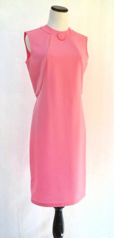 ON SALE 1960s Pink Dress // Vintage Dress // Size by CoolMintMoon, $19.00