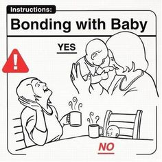 Bonding with Baby...that's SO me with Chai Tea.